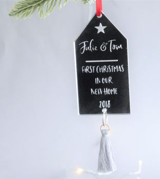 First Christmas Personalised Tassel Decoration