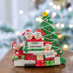 Personalised Christmas Morning Freestanding Decoration