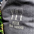 Personalised Embroidered Gardening Apron