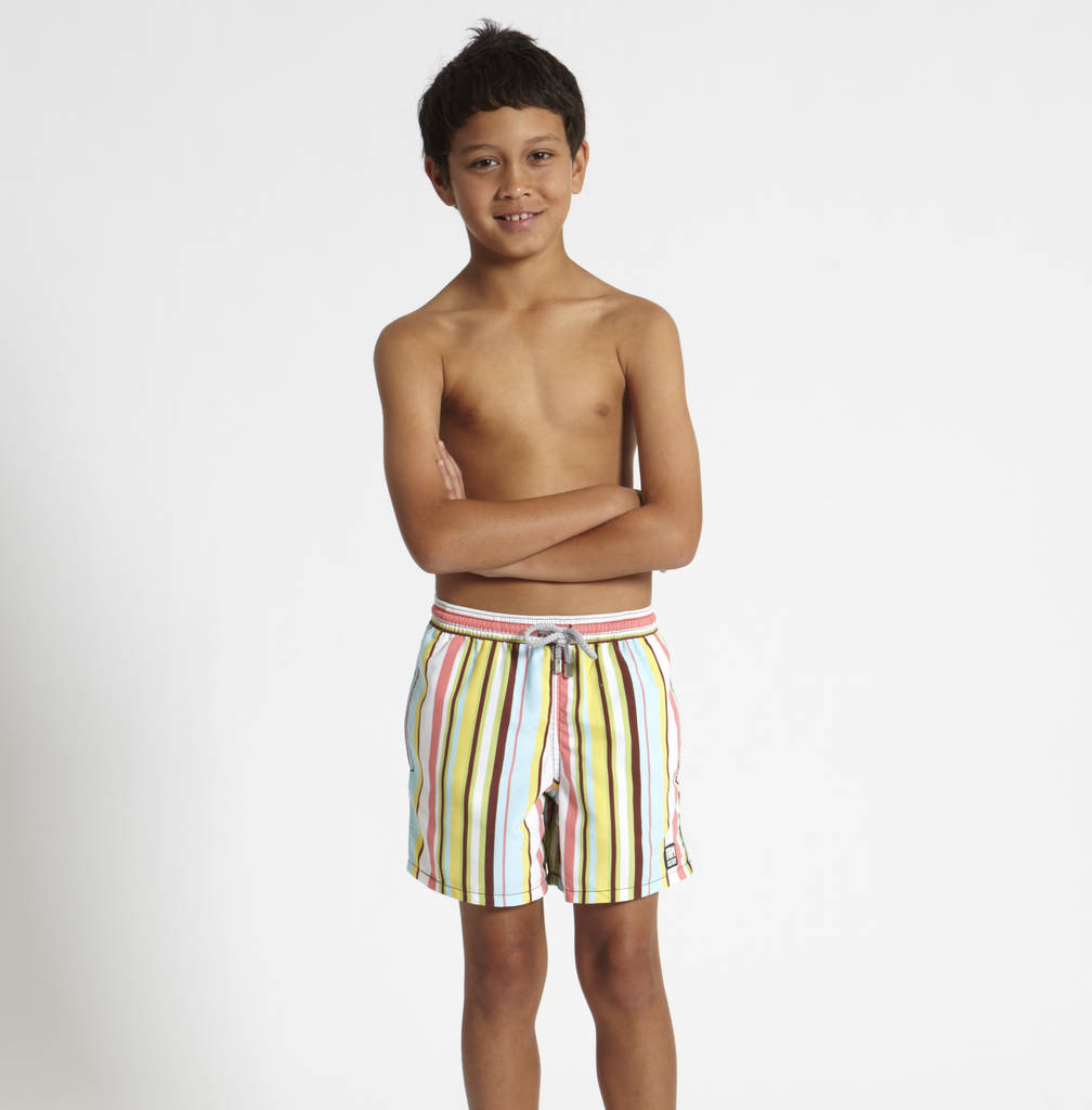 men's multi stripe swimming shorts by tom and teddy ...