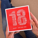 Personalised Name And Date 18th Birthday Card