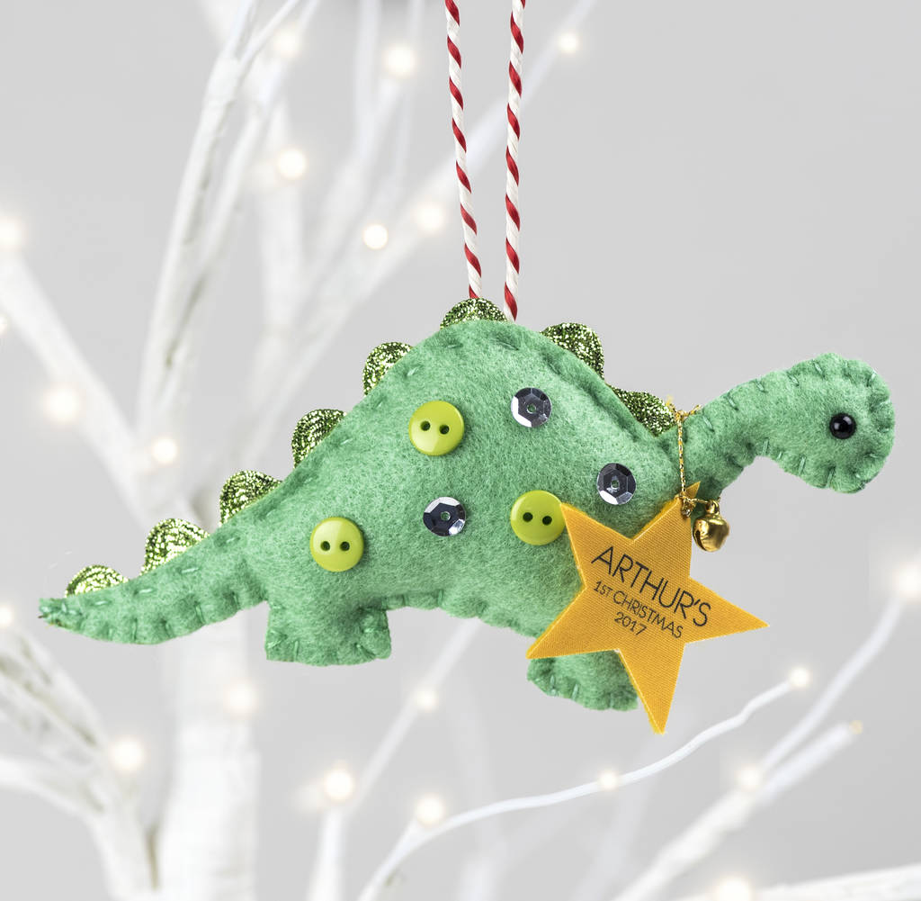 Dinosaur christmas decoration for Animated tinsel dinosaur christmas decoration