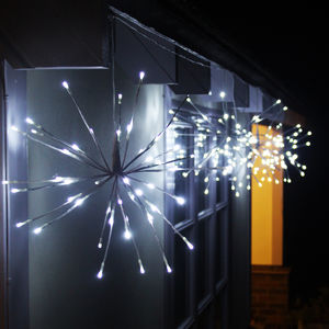 Four String White Sparkle Ball Light - fairy lights & string lights