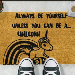 Unicorn Doormat - rugs & doormats