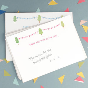 Personalised Christening Thank You Cards - thank you cards