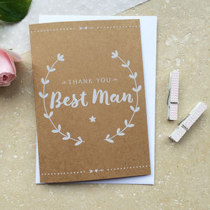 Best Man Thank You Card - wedding thank you gifts