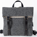 Harris Tweed Backpack Grey And Charcoal Dogtooth