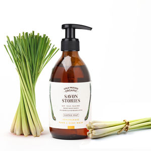 Organic Lemongrass Hand And Body Wash - bathroom