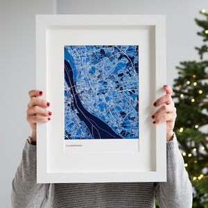 Personalised Abstract Map Print - lust list for him