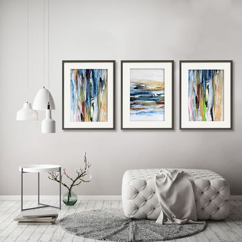 Set Of Three Modern Abstract Art Prints Set Home Decor