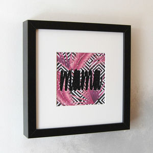 Vibrant Mama Sparkly Framed Cut Out - typography