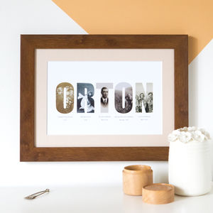 Personalised Family History Photograph Print - family prints