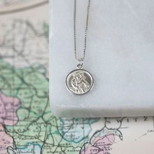 Sterling St Christopher Necklace - personalised