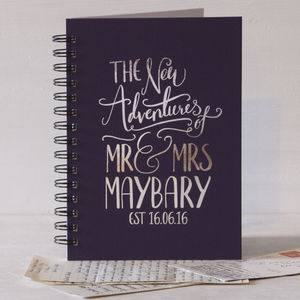 Personalised Wedding Gift Memory Book - writing