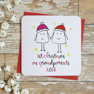 First Christmas As Grandparents Xmas Card - personalised