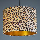 Leopard Animal Print Lampshade Choice Of Linings