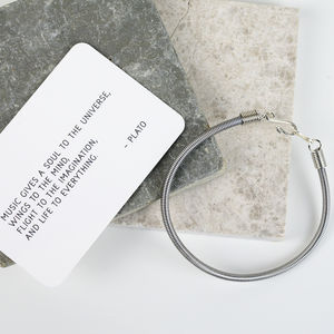 Recycled Bass Guitar String Bracelet - music-lover