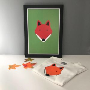 Fox T Shirt And Print Gift Set