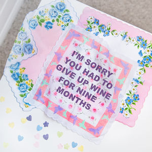Personalised Mothers Day Handkerchief Keepsake - handkerchiefs