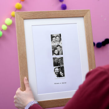 Personalised Retro Photo Strip Framed Print