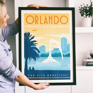 Orland Florida Travel Print