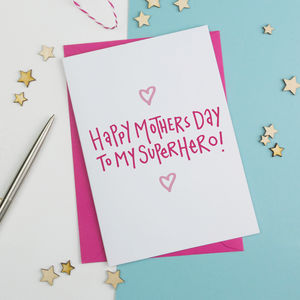 Superhero Mum Mothers Day Card - whats new
