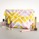 Geometric Sunrise Large Wash Bag