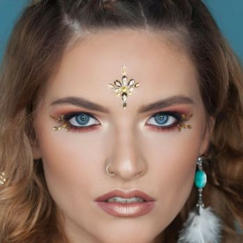 Tahitian Gold Jewelled Headpiece