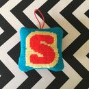 Make Your Own Tapestry Hanging Alphabet Decoration