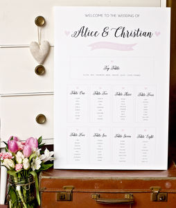 Pearl Design Wedding Table Plan