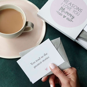 Personalised Foiled Reasons I Love Mum Notes - shop by category