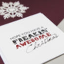 'Freakin' Awesome' Modern Christmas Card