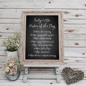 Order Of The Day Wedding Print