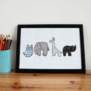 Cute Animal Nursery Print