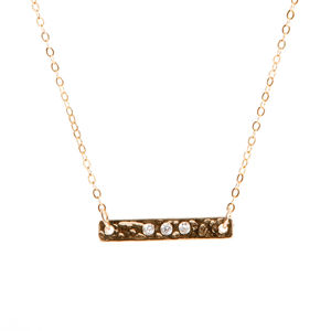 Cubic Zirconia Bar Necklace - winter sale