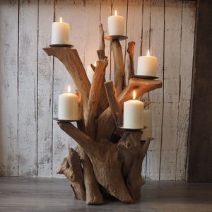 Reclaimed Wooden Candelabra