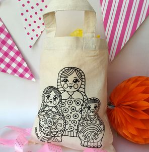 Russian Dolls Party Bags To Colour In - bags, purses & wallets