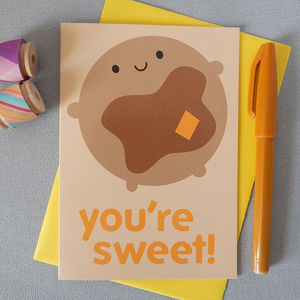 'You're Sweet!' Pancake Card
