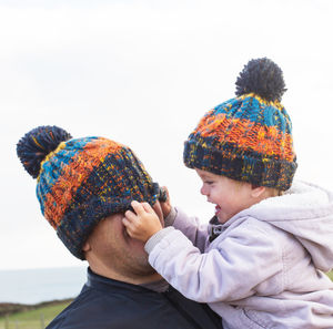 Parent And Child Matching Bobble Hats