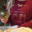 'First Christmas As Mrs …' Personalised Jumper