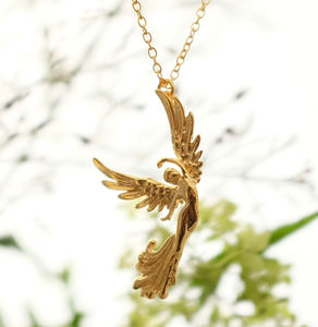 Golden Angel Of Grace Necklace