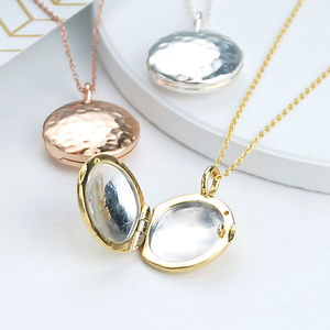Personalised Sterling Silver Contemporary Locket - necklaces & pendants
