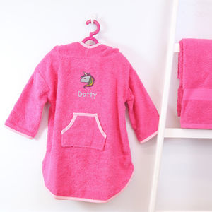 Personalised Girl's Hooded Logo Poncho - clothing