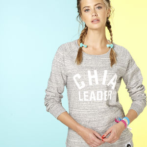 Chia Leader Sweatshirt, Grey And White - lounge & activewear