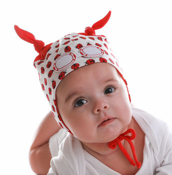 Newborn Ladybird Hat Red