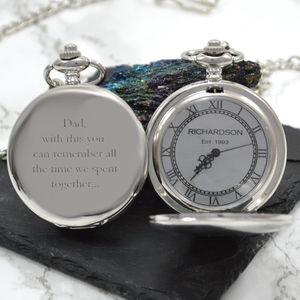 Personalised Pocket Watch With Your Name - winter sale