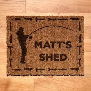 Fishing Themed Tool Shed Doormat