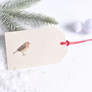 Robin Christmas Tags - finishing touches