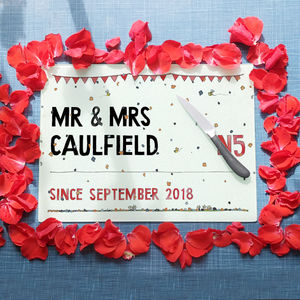 Personalised Wedding Street Sign Chopping Board