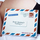 ' Mum To Be ' Babygrow, Stork Mail From Mummy's Tummy